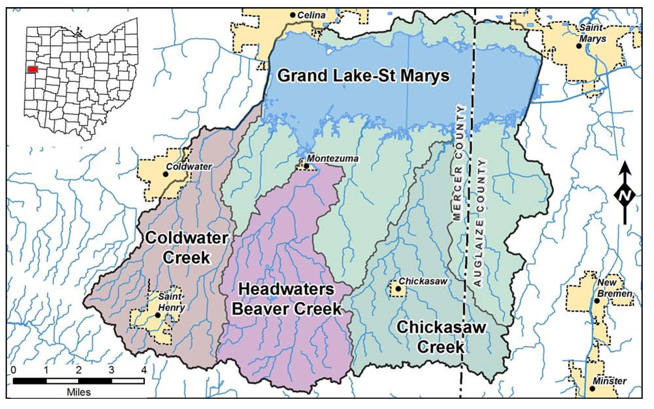 Grand Lake St. Marys Watershed Map